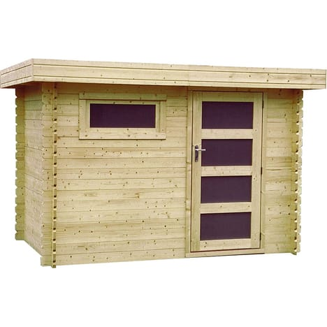 abri de jardin bois rectangle