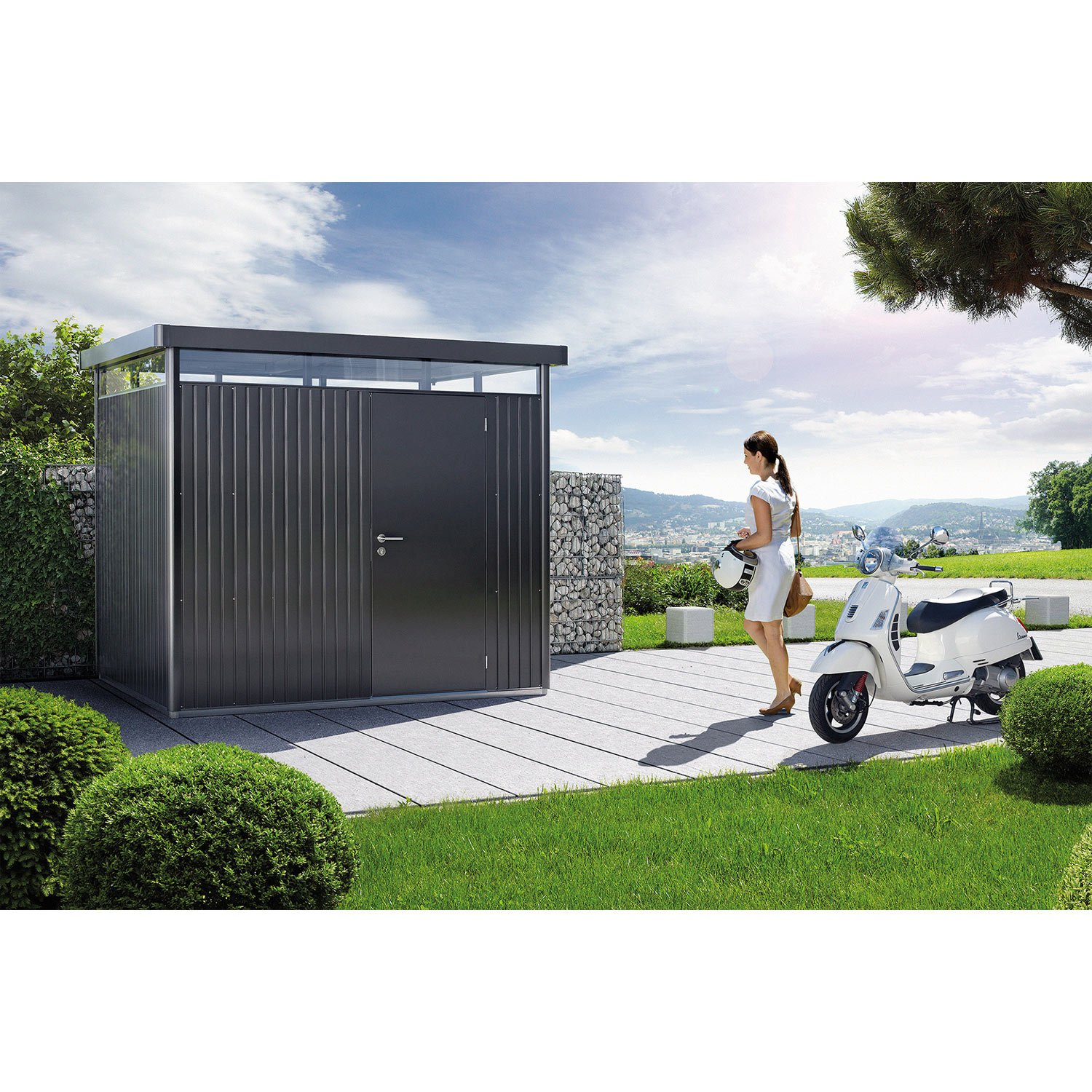 abri de jardin metal highline